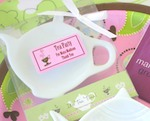 """It's Tea Time!"" Porcelain Teapot Dish cheap favors"