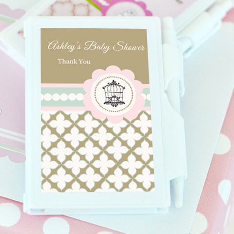 Birdcage Party Personalized Notebook Favors  wedding favors