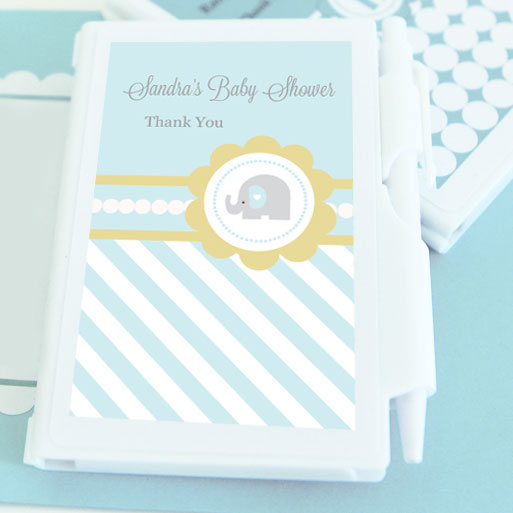 Blue Elephant Personalized Notebook Favors wedding favors
