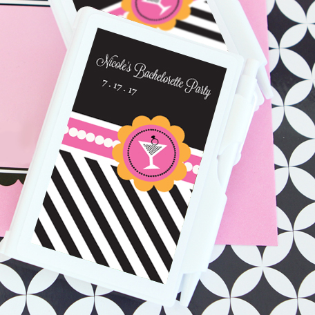 Bachelorette Party Personalized Notebook Favors wedding favors
