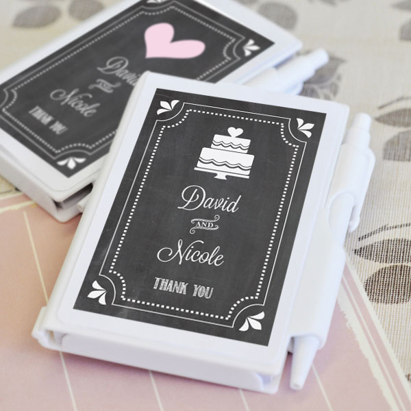 Chalkboard Wedding Personalized Notebook Favors wedding favors
