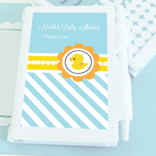 Rubber Ducky Personalized Notebook Favors wedding favors