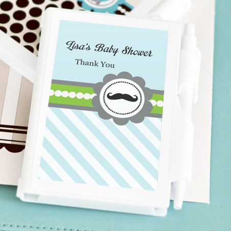Little Man Party Personalized Notebook Favors wedding favors