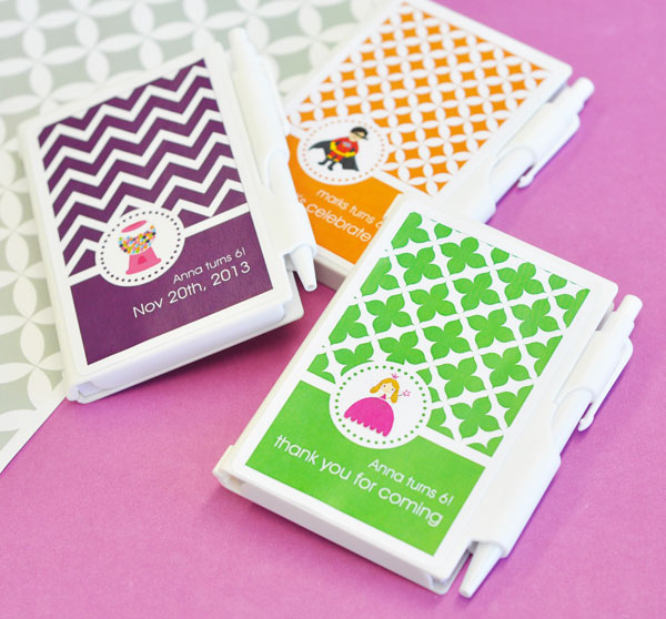 MOD Pattern Kid's Birthday Notebook Favors wedding favors