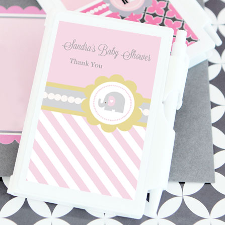 Pink Elephant Personalized Notebook Favors wedding favors