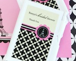 Personalized Notebook Favors - Parisian Party  cheap favors