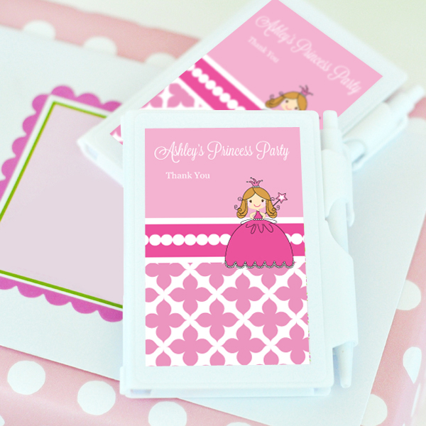 Princess Party Personalized Notebook Favors  wedding favors