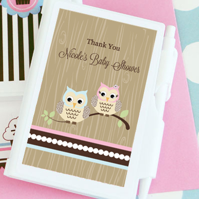 Woodland Owl Personalized Notebook Favors wedding favors
