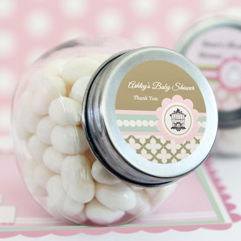 Birdcage Party Personalized Candy Jars  wedding favors