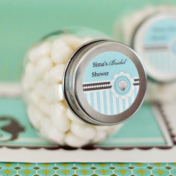 Personalized Candy Jars - Beach Party wedding favors