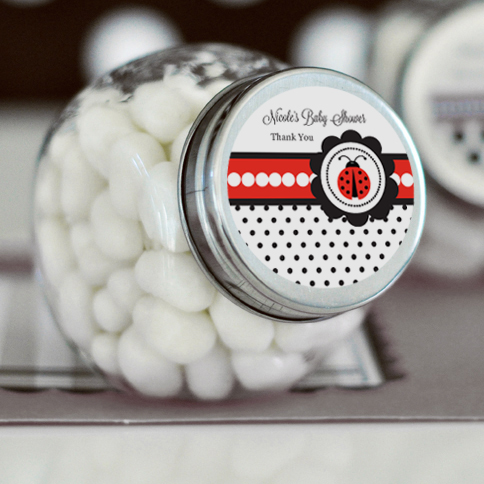 Ladybug Personalized Candy Jars wedding favors