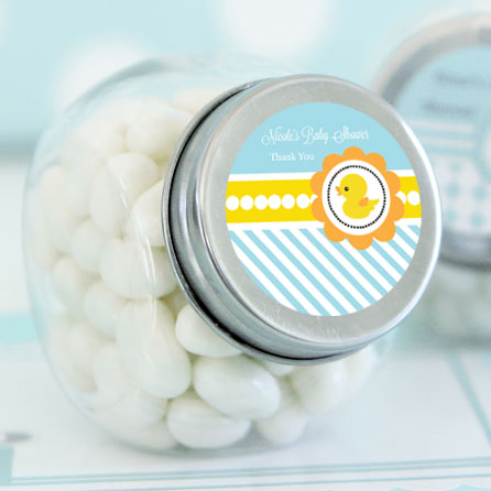 Rubber Ducky Personalized Candy Jars wedding favors