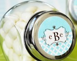 Mod Monogram Candy Jars  cheap favors