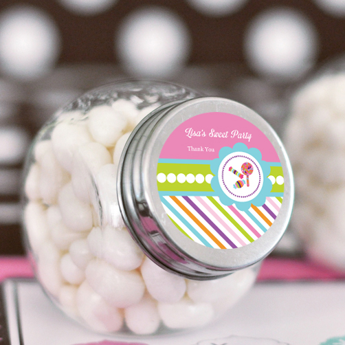 Sweet Shoppe Party Personalized Candy Jars  wedding favors