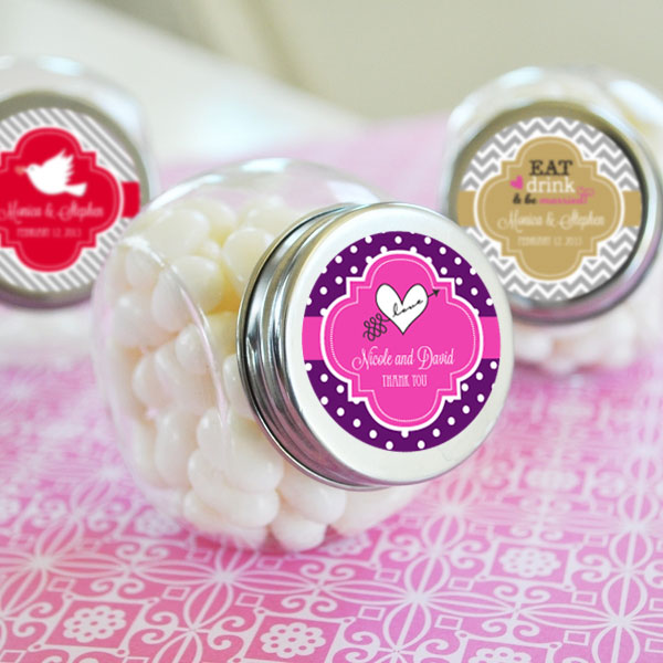 Personalized Theme Candy Jars cheap favors