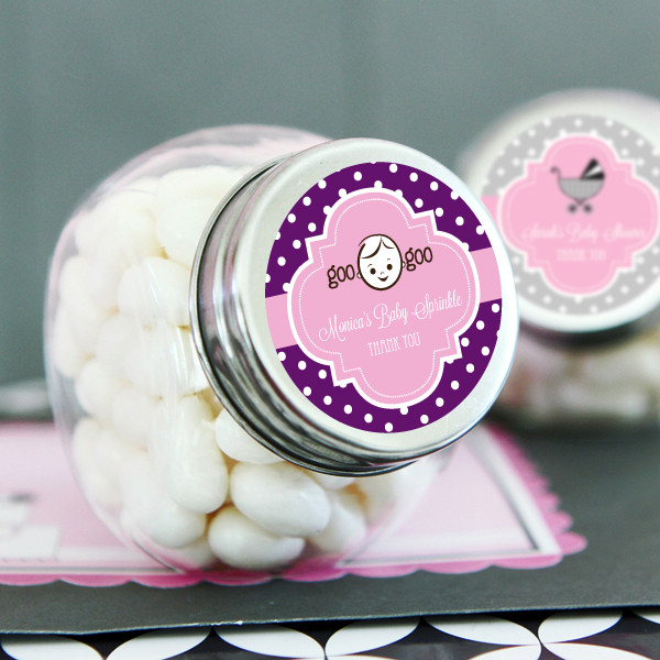 Personalized Baby Shower Candy Jars cheap favors