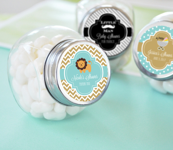 Personalized Baby Shower Candy Jars