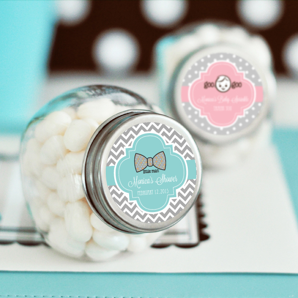 Personalized Baby Shower Candy Jars Wedding Favors