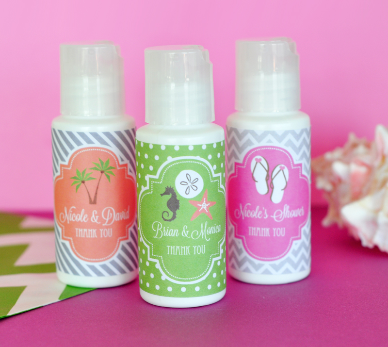 Personalized Wedding Theme Sunscreen wedding favors