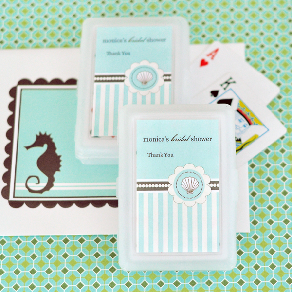 Personalized Playing Cards - Beach Party wedding favors