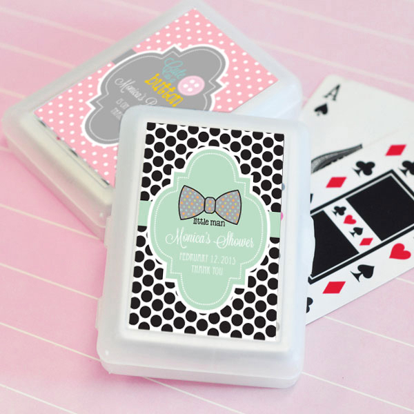 Personalized Baby Shower Playing Cards cheap favors