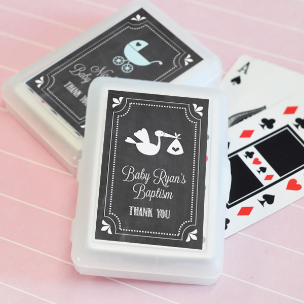 Chalkboard Baby Shower Personalized Playing Cards wedding favors