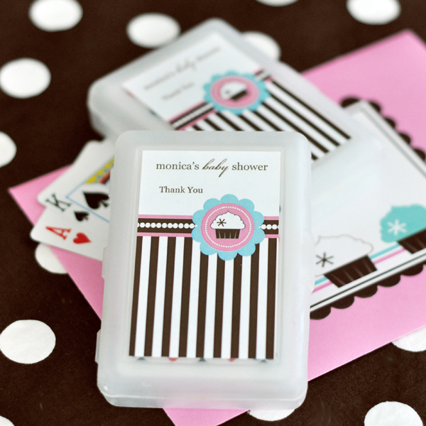Personalized Playing Cards - Cupcake Party wedding favors