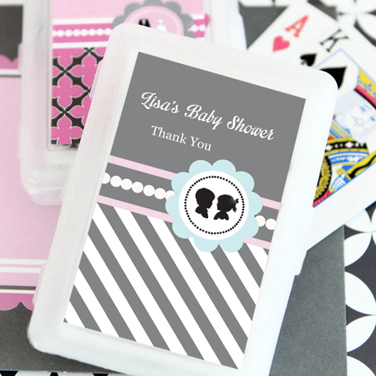 Gender Reveal Party Personalized Playing Cards  wedding favors