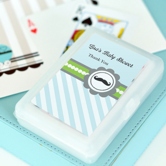 Little Man Party Personalized Playing Cards  wedding favors