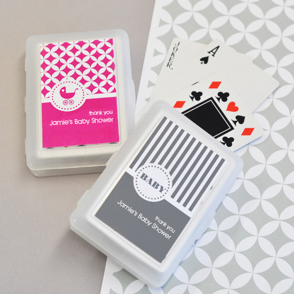 MOD Pattern Baby Playing Cards wedding favors