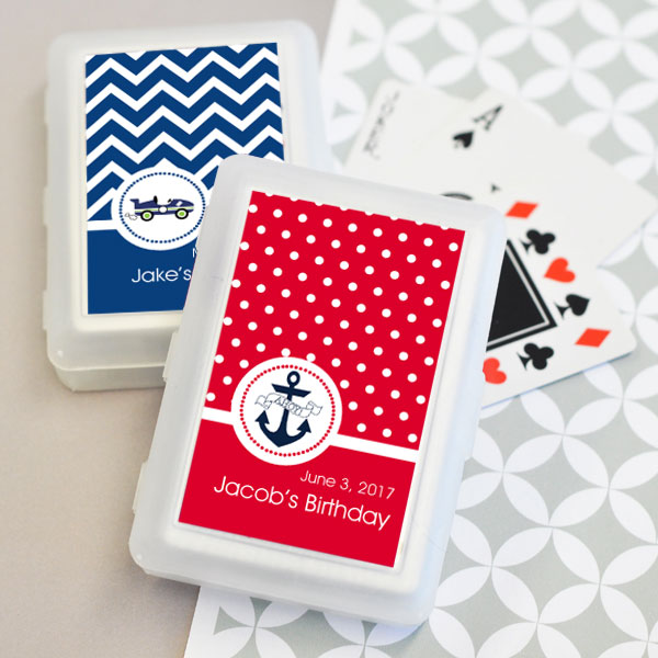 Personalized MOD Kid's Birthday Playing Cards cheap favors
