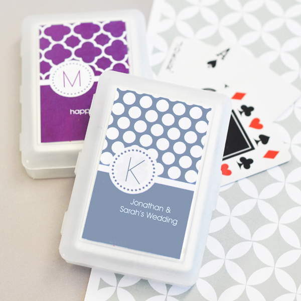 MOD Pattern Monogram Playing Cards cheap favors