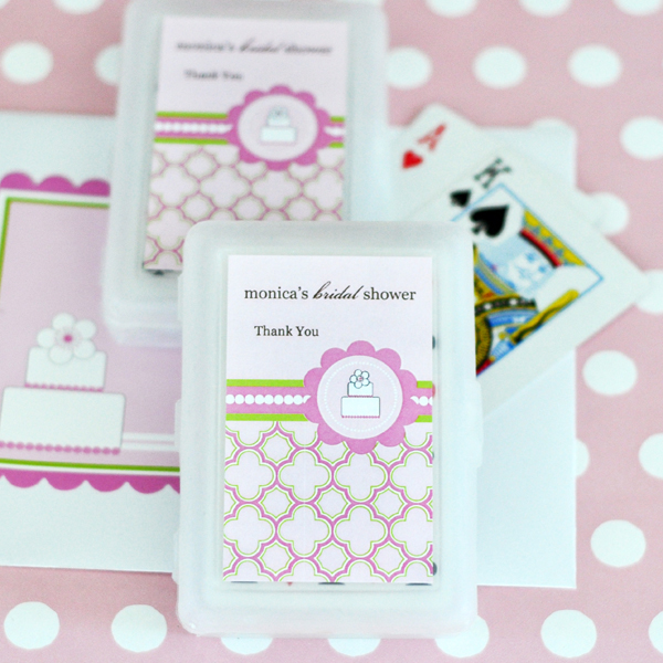 Personalized Playing Cards - Pink Cake wedding favors