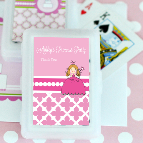 Princess Party Personalized Playing Cards  wedding favors