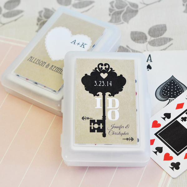 Vintage Wedding Personalized Playing Cards  wedding favors