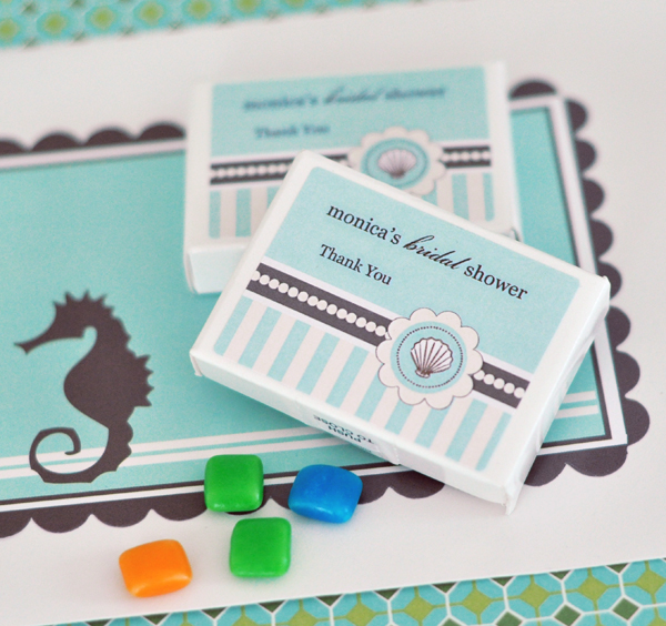 Personalized Gum Boxes - Beach Party wedding favors