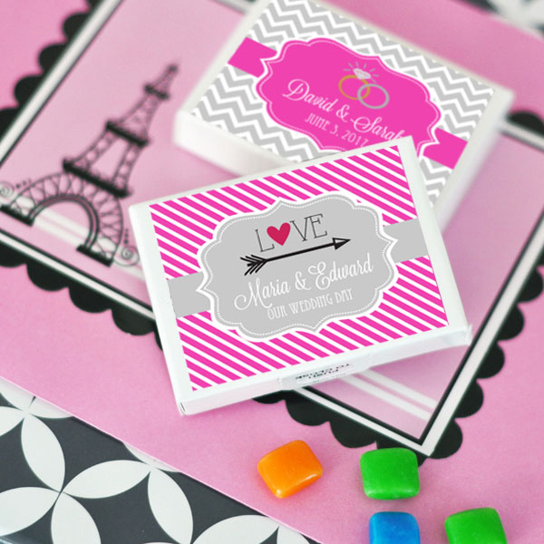 Personalized Theme Gum Boxes cheap favors