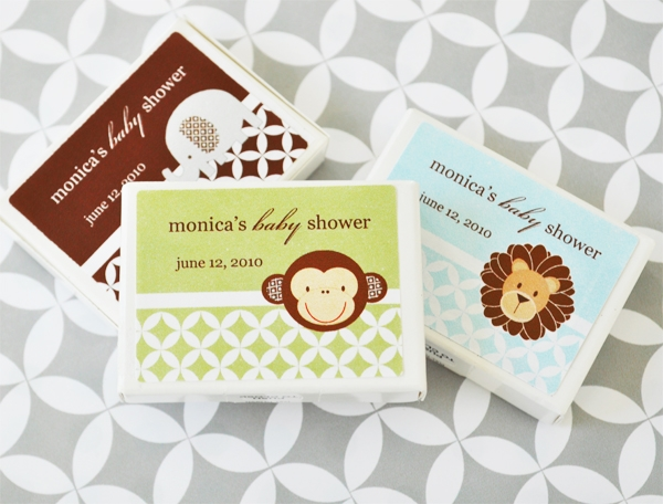 Baby Animals Personalized Gum Boxes  wedding favors