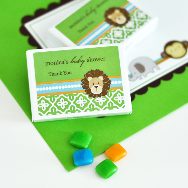 Personalized Gum Boxes - Jungle Safari  wedding favors