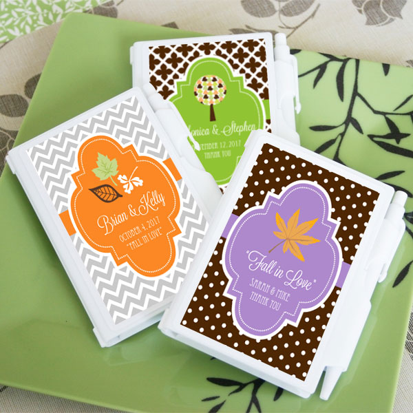Personalized Fall Notebook Favors cheap favors