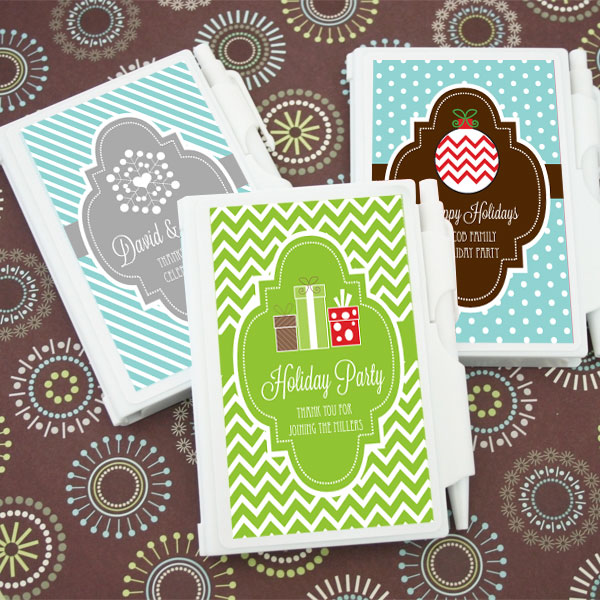 Personalized Winter Notebook Favors wedding favors
