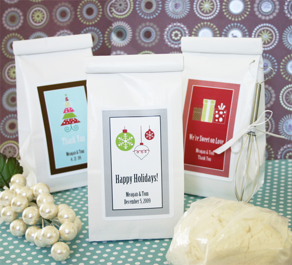 "Winter Holiday"" Sugar Cookie Mix wedding favors"