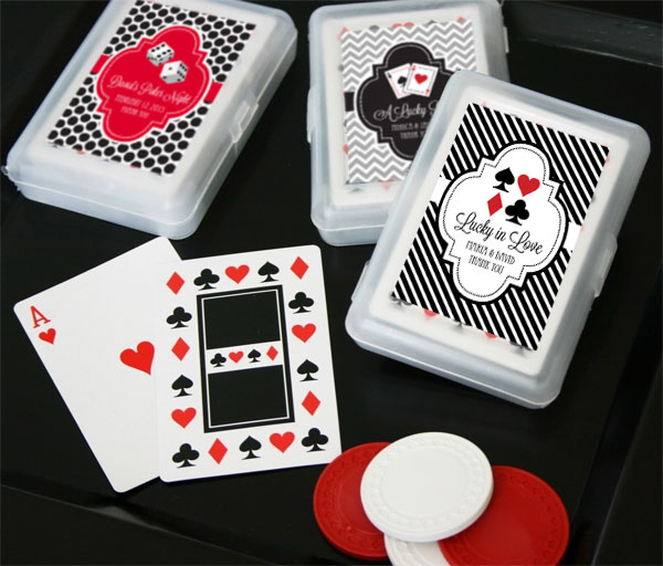 Personalized Vegas Playing Cards cheap favors