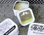 Elite Design Personalized Square Candle Tins cheap favors