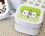 Mod Monogram Personalized Square Candle Tins  cheap favors