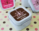 Square Gift Box Personalized Square Candle Tins cheap favors