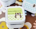 Baby Animals Personalized Square Candle Tins  cheap favors