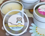 Elite Design Baby Shower Personalized Round Candle Tins  cheap favors