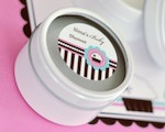 Personalized Round Candle Tins - Cupcake Party cheap favors