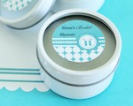 Personalized Round Candle Tins - Something Blue  cheap favors